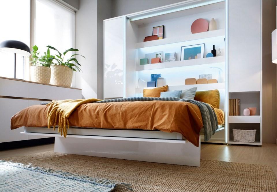 Schrankbett Weiss Bed Concept Lenart Wandklappbett