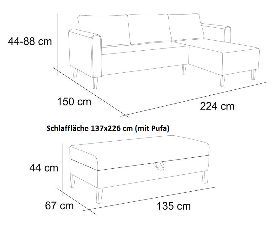 Divano ad angolo lahti con funzione sleep puff cassettoni per letto set ebay - Gambe letto universali ...