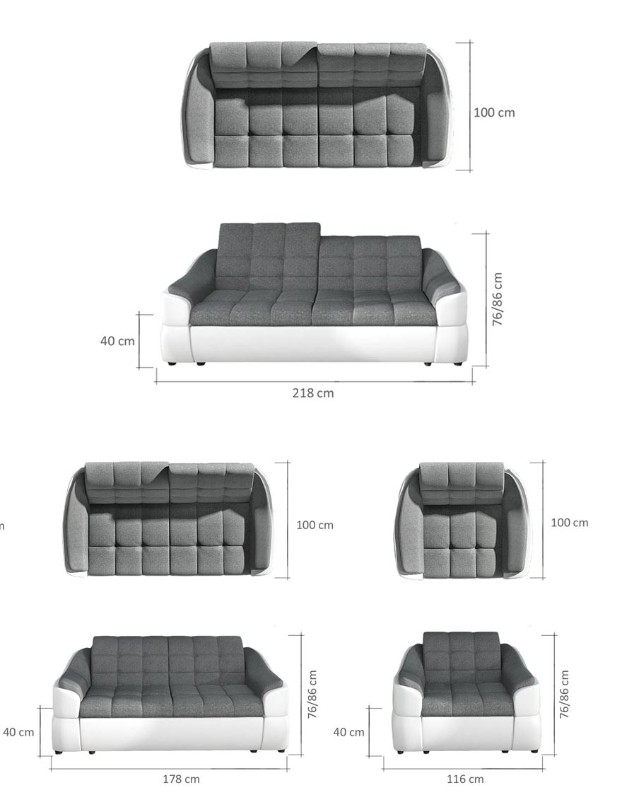 Future 3+2+1+H (Sofa+Sofa+Sessel+Hocker) yourhouse24.eu